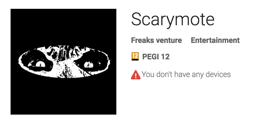 Scarymote on Playstore
